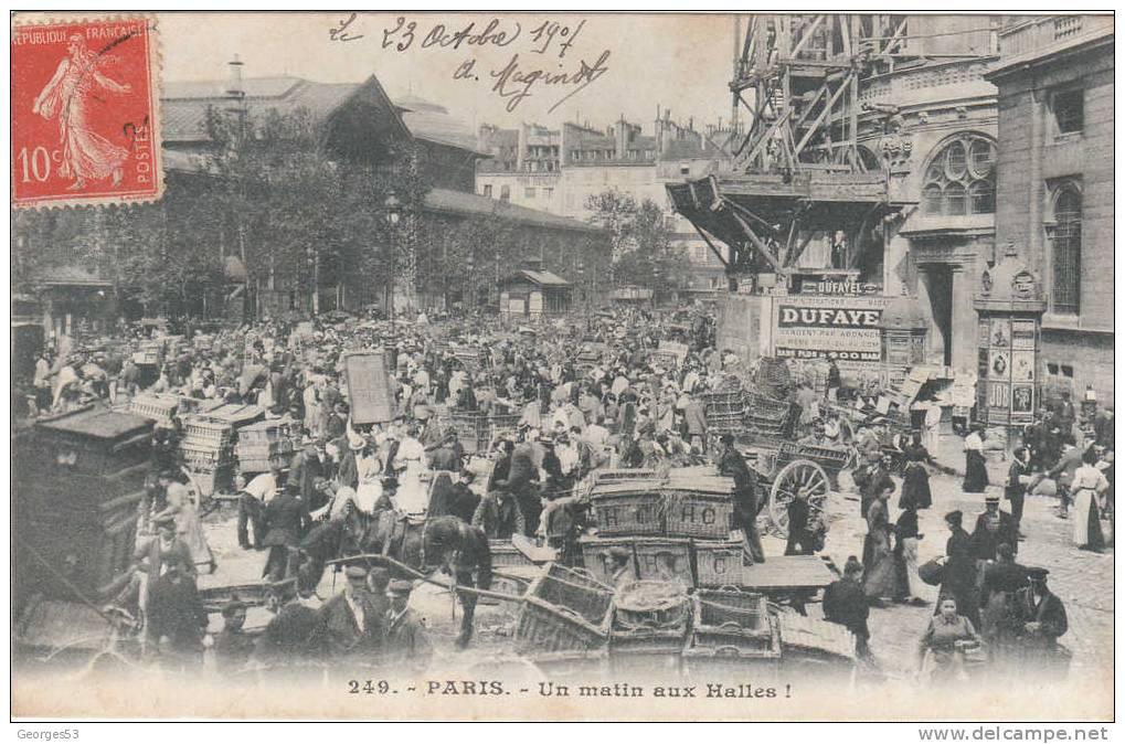 PARIS  Un Matin Aux Halles N° 249   1907 - Halles