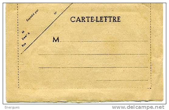 Carte-lettre,vierge, Mais Intérieur écrit  ,2e Guerre Mondiale , Drôle De Guerre, Muret, Haute-garonne - Marcophilie (Lettres)