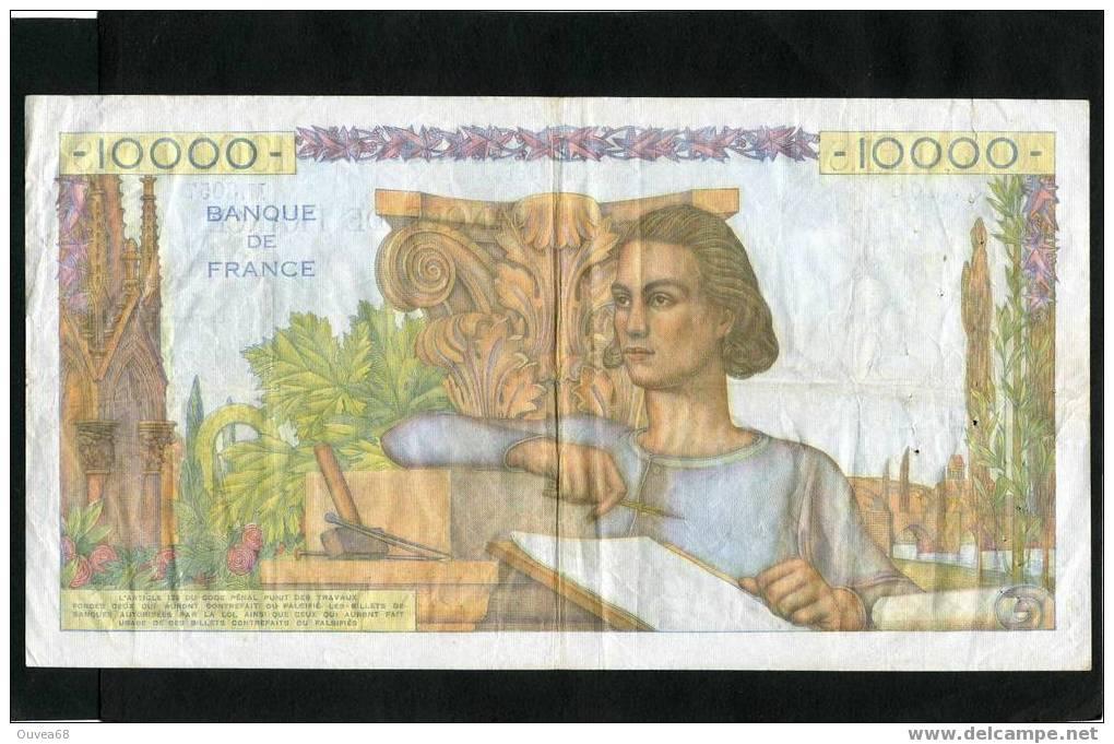 Trés Rare 10 000 Francs Génie Français - Type 1945 Du 03/03/1955 - 1871-1952 Anciens Francs Circulés Au XXème
