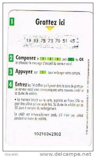 COSTA D'AVORIO (IVORY COAST) - IVOIRIS  (GSM RECHARGE) - ILLICO: 5000  - USED   -  RIF. 517 - Costa D'Avorio