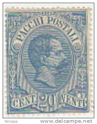Italy-1884 Parcel Post 20c Blue Mint Light Hinged - 1878-00 Umberto I