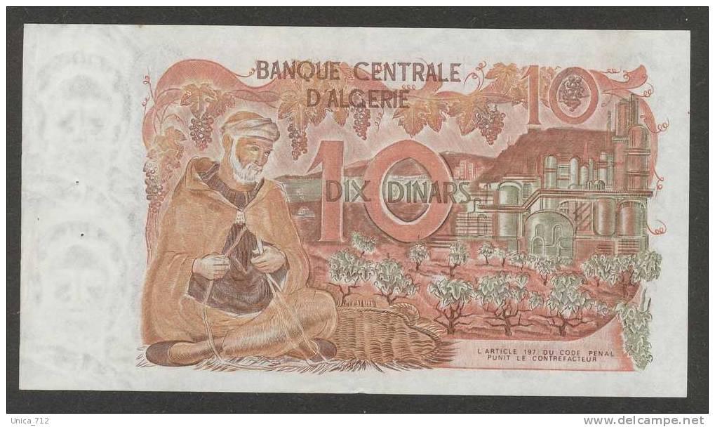 Algérie - Billet De 10 Dinars Du 1-11-1970  Presque Neuf - Argelia