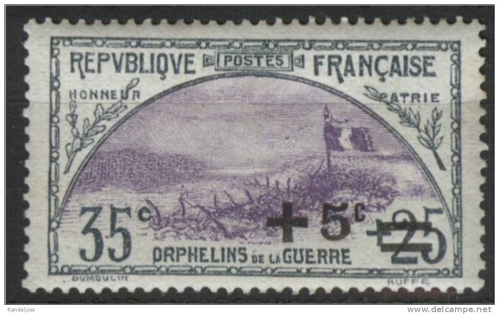 N° 166a*_bon Centrage_violet Clair_gomme Défraichie - Nuevos