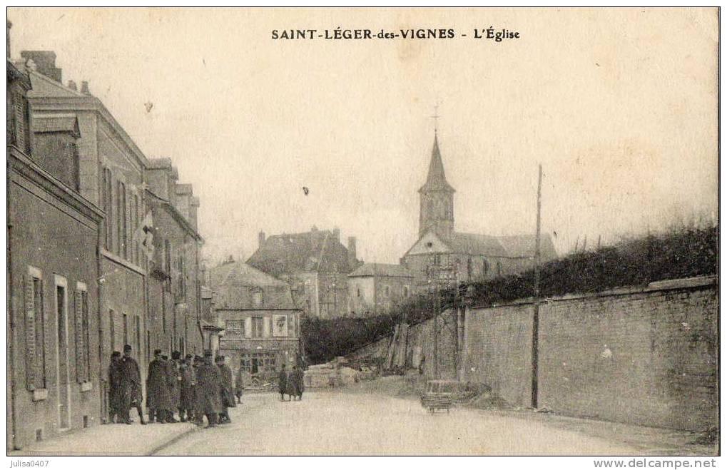 SAINT LEGER DES VIGNES (58) Rue Militaires Animation - Unclassified