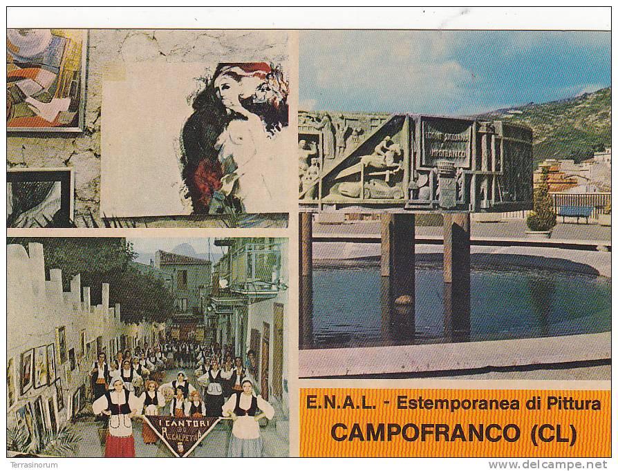M-0141- CAMPOFRANCO - ESTEMPORANEA DI PITTURA E.N.A.L. - CALTANISSETTA  F.G. - NON VIAGGIATA - Caltanissetta
