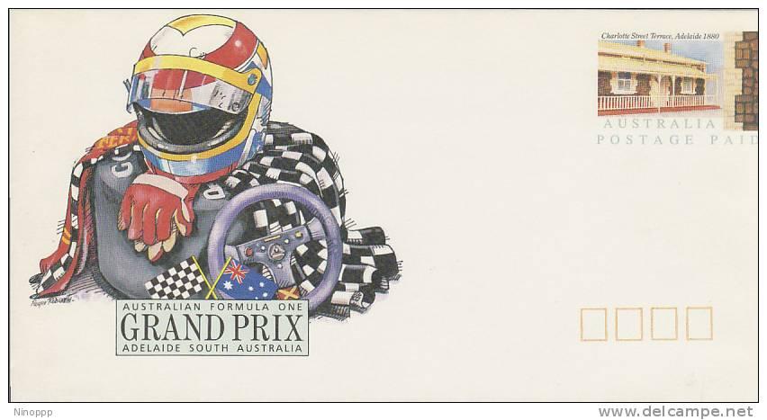 Australia-1985 Adelaide Formula 1 Gran Prix,Helmet, Unused Envelope - Postal Stationery