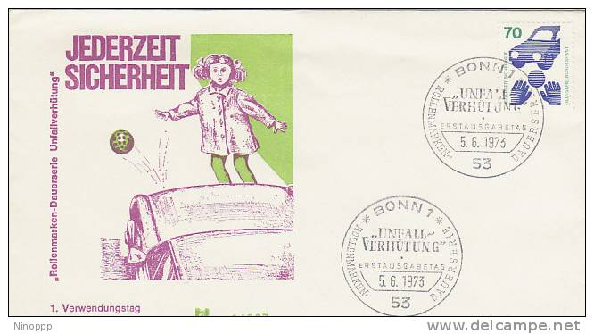 Germany-1973 Road Safety FDC - Cars