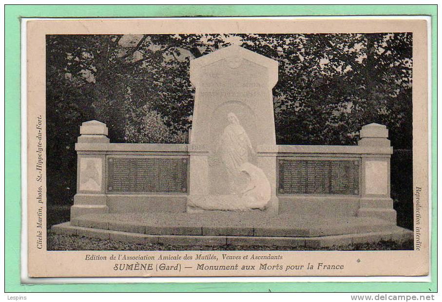 30 - SUMENE --  Monument Aux Morts - Sumène