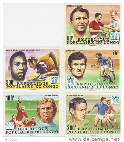 Congo-1978 World Soccer Cup MNH - Soccer