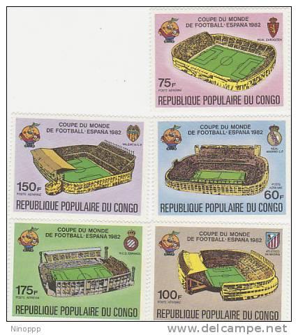 Congo-1982 Soccer World Cup Spain MNH - Soccer