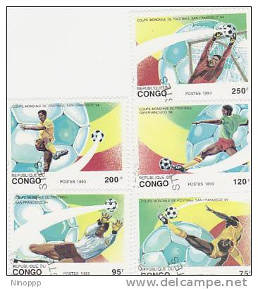 Congo-1993 Soccer World Cup San Francisco Used Set - Soccer