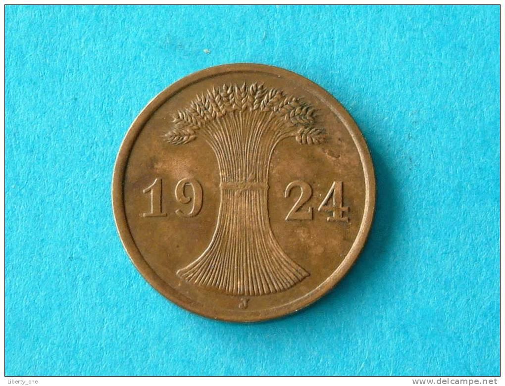 1924 J - 2 RENTENPFENNIG / KM 31 ( For Grade, Please See Photo ) ! - 2 Rentenpfennig & 2 Reichspfennig