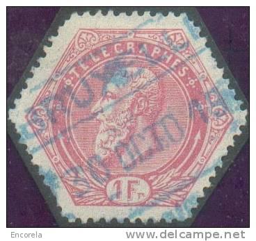 TG N°16 Oblitération Ferroviaire De BRUXELLES En Couleur Bleue.  TB  - 5407 - Telegraph