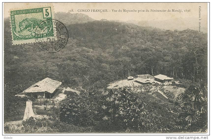 118 Vue Du Mayumbe Prise Du Penitencier De Mandji 1896 Bagne , Timbrée Non Voyagé , Audema - Congo - Brazzaville