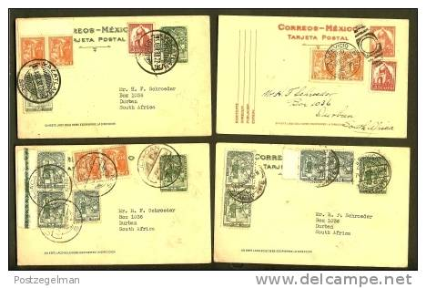 Mexico 1938 18 Postcards Written With Holiday Remarks - Mexico