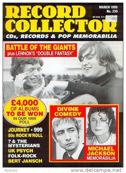 "Magazine Record Collector""N°235 Mars 1999""Beatles V Stones - Objets Dérivés"