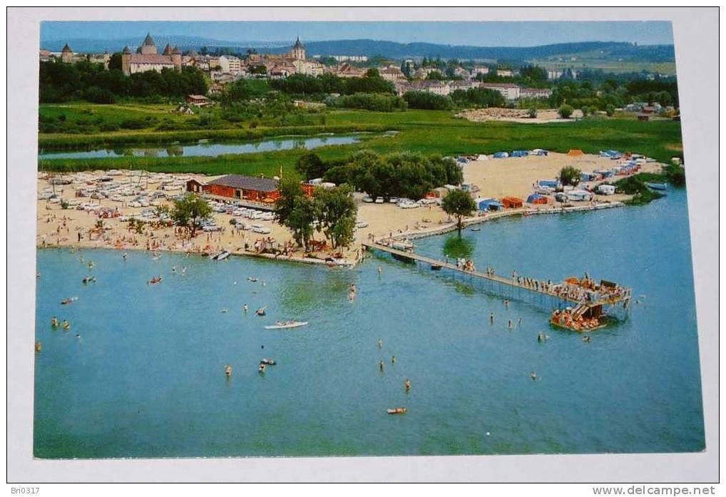 Estavayer-le Lac - SUISSE - : La Plage Communale -vue Aérienne. - FR Fribourg