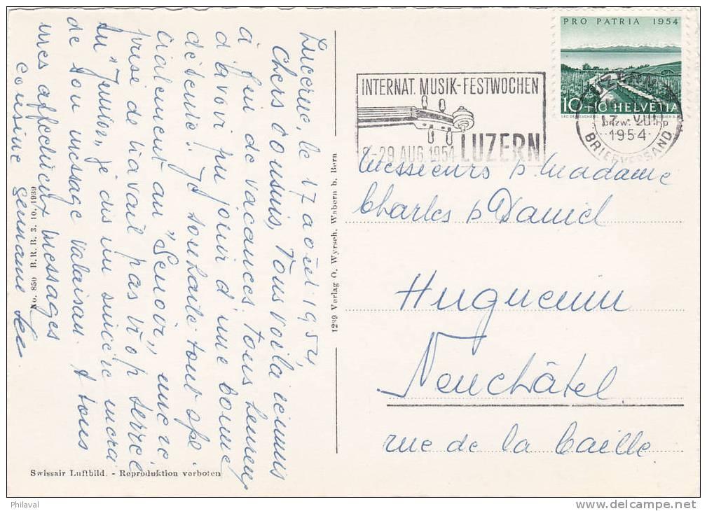 LUZERN : Sanatorium St.Anna - Fliegeraufnahme - Cp. 10 X 15 Oblitérée Le 17.VIII.1954 - LU Lucerne