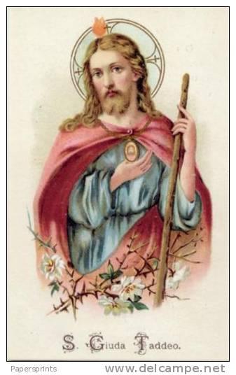 Santino NUOVO - SAN GIUDA TADDEO - Ristampa Tipografica Da Santino Antico - PERFETTO - Religione & Esoterismo
