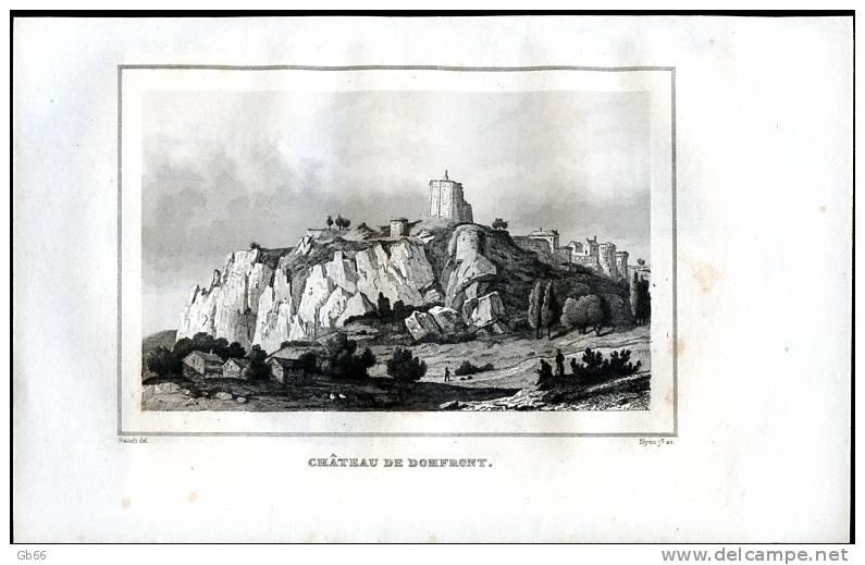 Orne, Château De Domfront........gravure 1838 - Estampas & Grabados