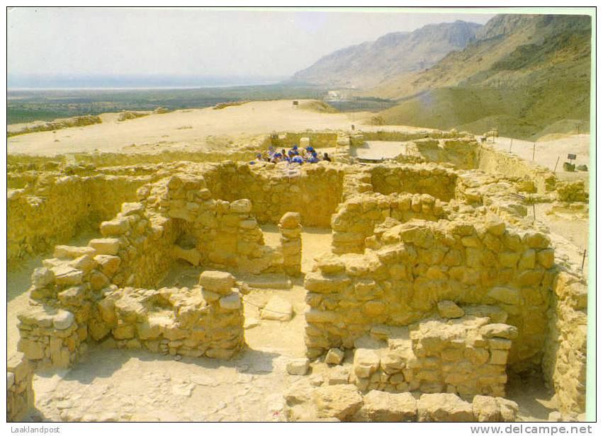 VINTAGE COLOUR POSTCARD RUINS AT QUMRAN - Monumenten