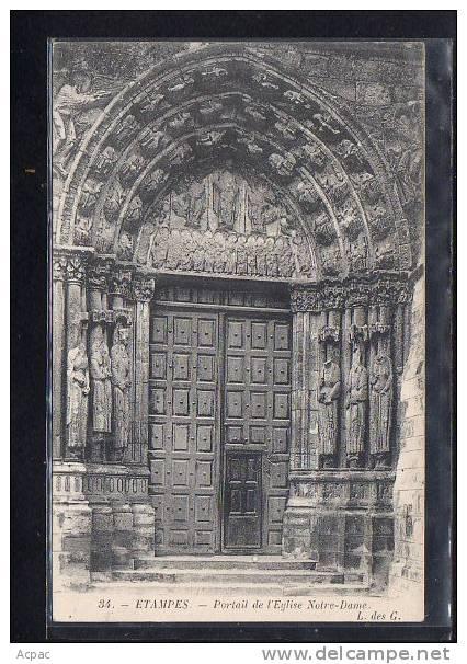 91  ETAMPES    Porte De L' Eglise Notre Dame - Etampes