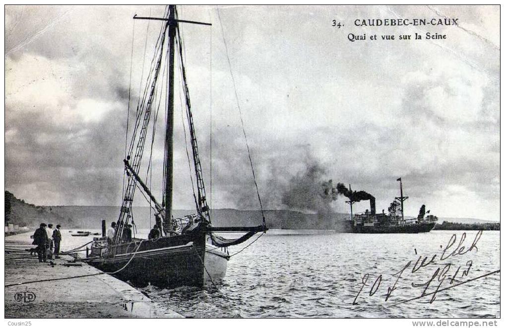 76 CAUDEBEC EN CAUX - Quai Et Vue Sur La Seine - Caudebec-en-Caux