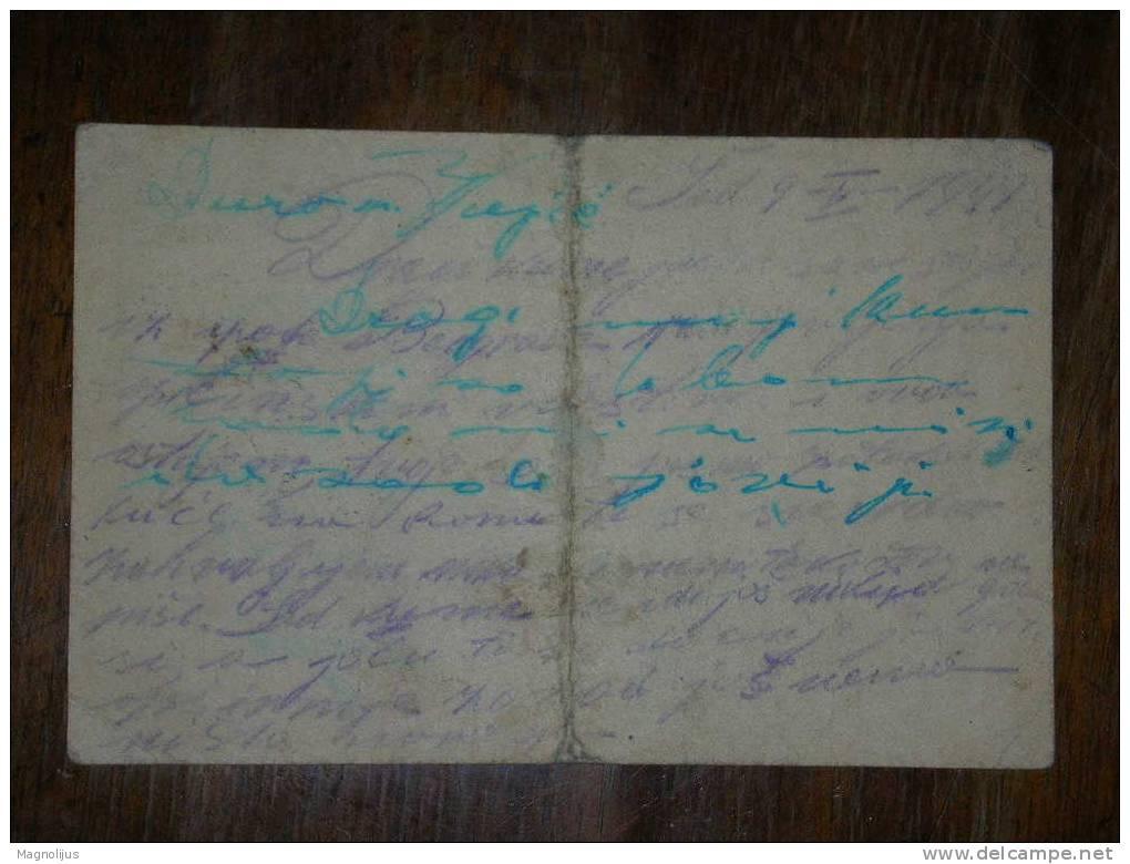 R!R!,Croatia,NDH,WWII,Sta Tionery,Overstamped  Yugoslavia Kingdom Postcard,Nezavisna Drzava Hrvatska,Extremely Rare - Croatie