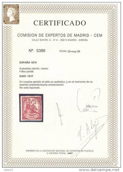 ES151-2696TSC.ALEGORIAS  DE LA REPUBLICA (Ed 151F**)sin  Charnela .LUJO.CERTIFICADO. - Sellos