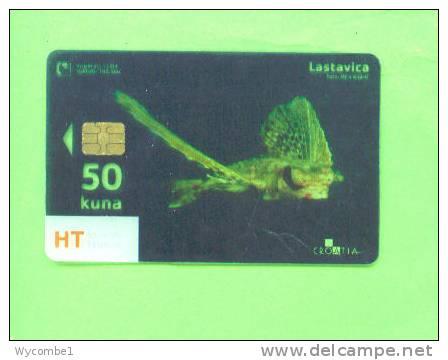 CROATIA - Transparent Chip Phonecard/Sea Life Fish - Croatia