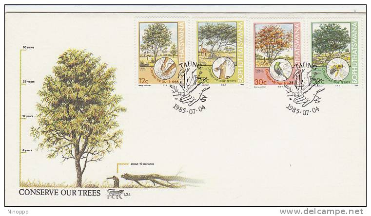 Bophuthatswana-1985 Conserve Our Trees  FDC - Trees