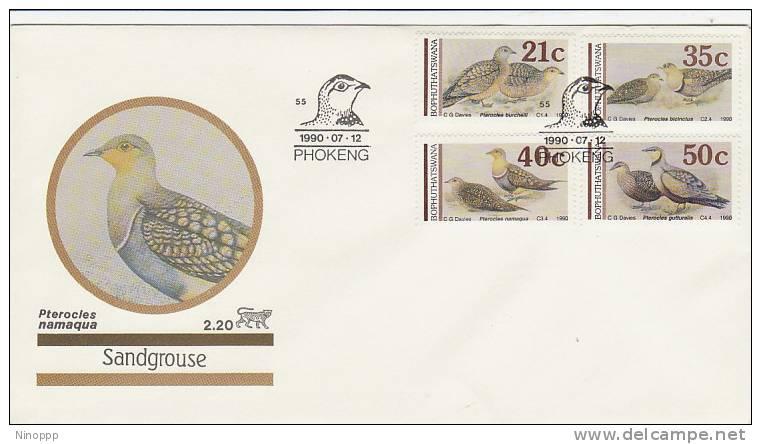 Bophuthatswana-1990 Sandgroose  FDC - Birds