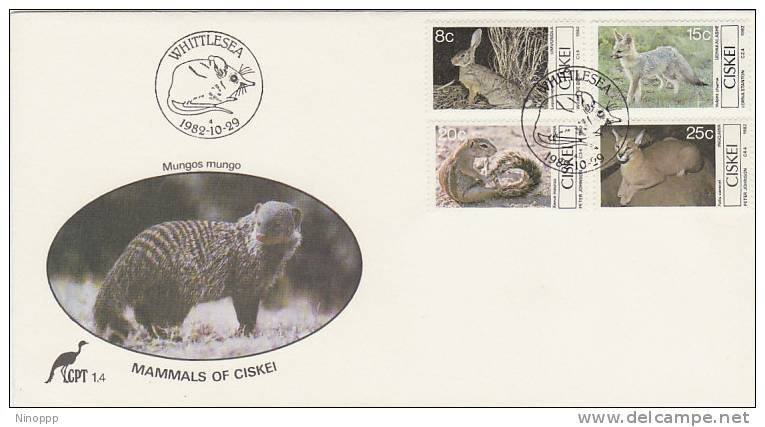 Ciskei-1982 Mammals FDC - Stamps