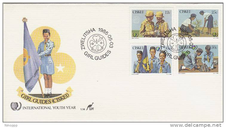Ciskei-1985 Girl Guides  FDC - Scouting