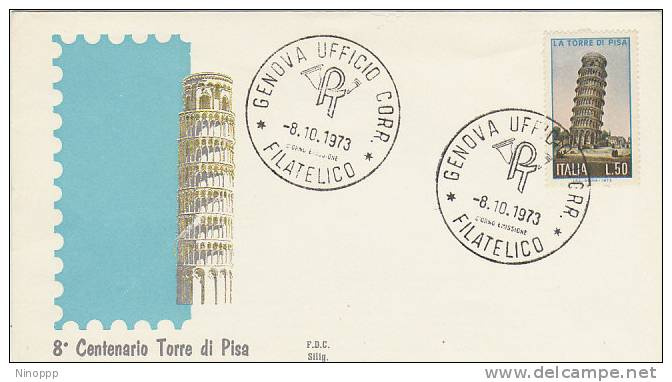Italy-1977 8th Centenary Pisa Tower FDC - Collections