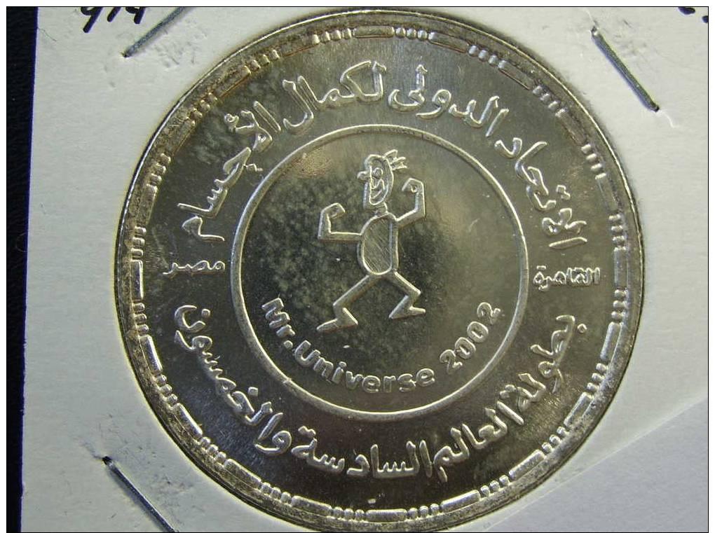 Egypt /1262 /Km# 914 /5 Pounds 2002 / Body Bulding Championships / Silver - Egypt