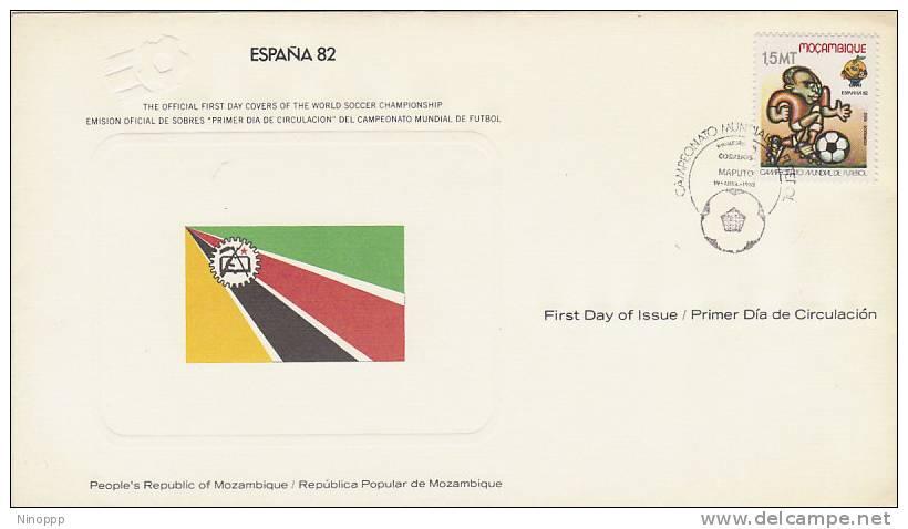 Mozambique-1982 Spain 82 Soccer World Cup Souvenir Card - Soccer