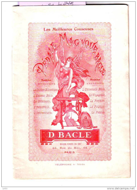 MACHINES A COUDRE  BACLE  PARIS  - Fers A Repasser (1page) Décembre 1903 (sous Reserve) - Catalogues