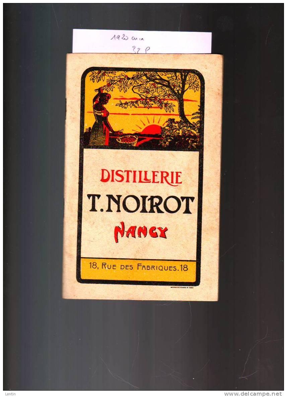 DISTILLERIE  NOIROT  NANCY - Catalogues