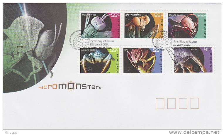 Australia-2009 Micromonsters Set 6 FDC - FDC