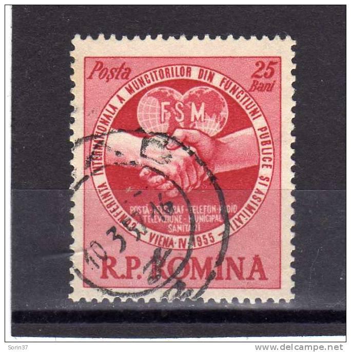 Serie Completa De Romania Año 1955  Yvert Nr.1373  Usada - 1948-.... Repúblicas
