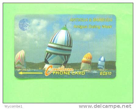 ANTIGUA AND BARBUDA - Magnetic Phonecard/Sailing Week $10 - Antigua And Barbuda