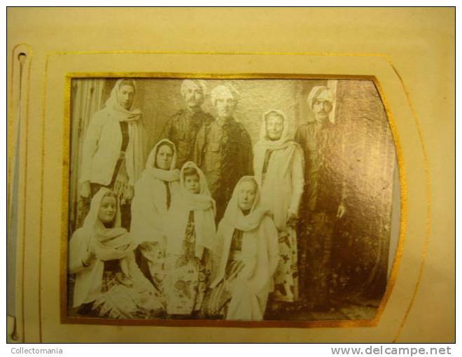 Echte Photos; Vrijwilligers Van Vóór 1900 LEGER DES HEILS Zendelingen Naar INDIA, Zeer  RAAR Rare, Full Album - Unclassified
