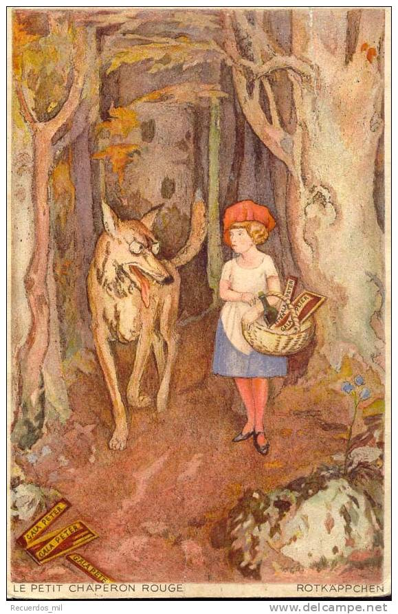 Le Petit Chaperon Rouge. Rotkappchen - Fairy Tales, Popular Stories & Legends