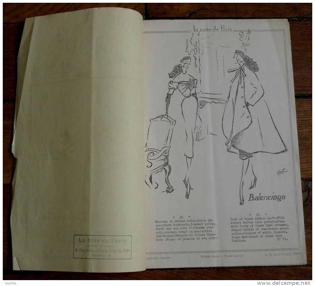 Catalogue Du Défilé Christian  Dior - La Note De Paris N°11 - Très Rare - Mode
