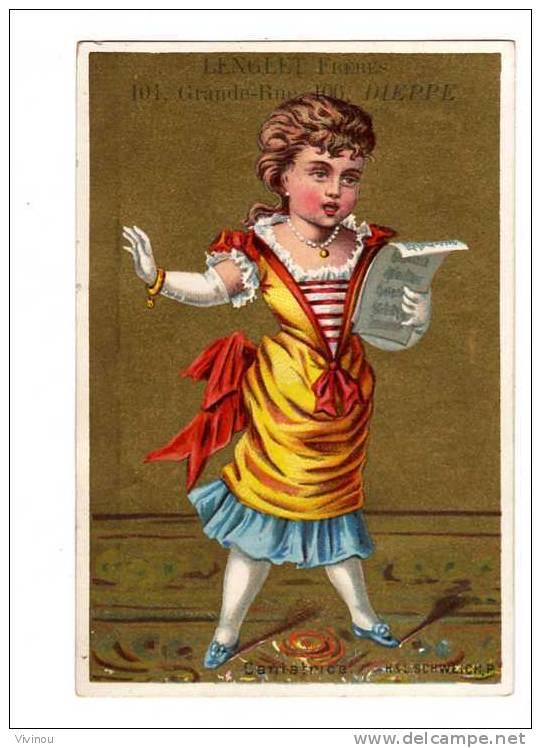Chromo Or  Au Roi Dagobert,Dieppe  Thème Cantatrice  Opéra  Partition  Musique  Voix  - H & L Schweich,P. - Chromos