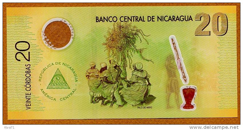 "**NOUVEAU** 20 Cordobas   ""NICARAGUA"" 12 Septembre 2007 UNC Polymer   Ble32 - Nicaragua"