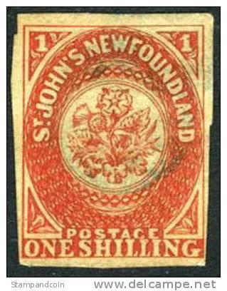 Newfoundland #9 Used 1sh From 1857 - Newfoundland