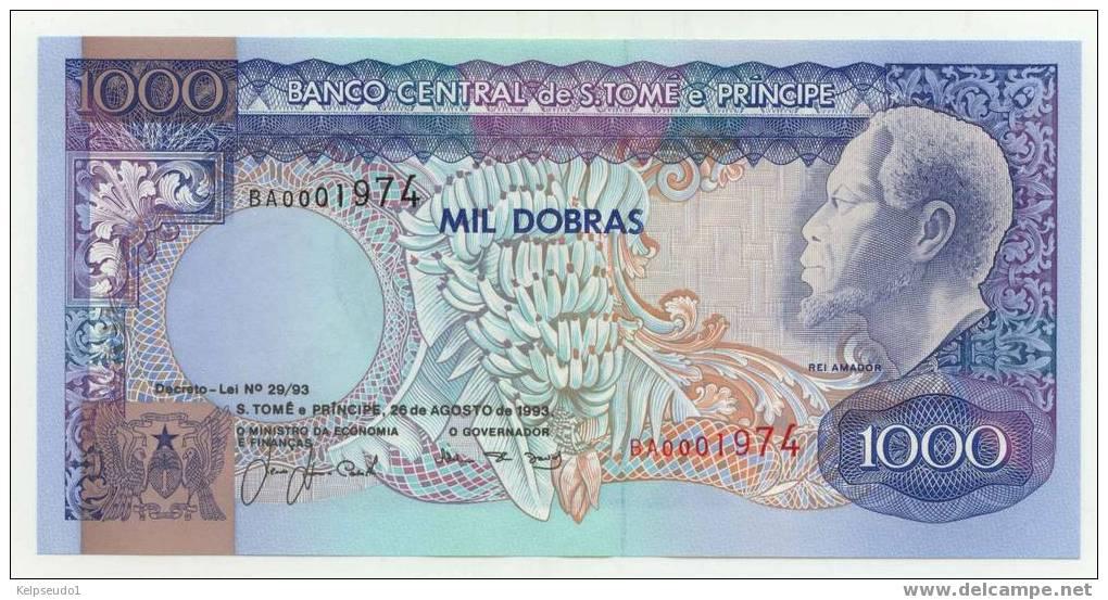 SAO TOME : 1000 Dobras 1993 Neuf (unc) - Sao Tomé Et Principe