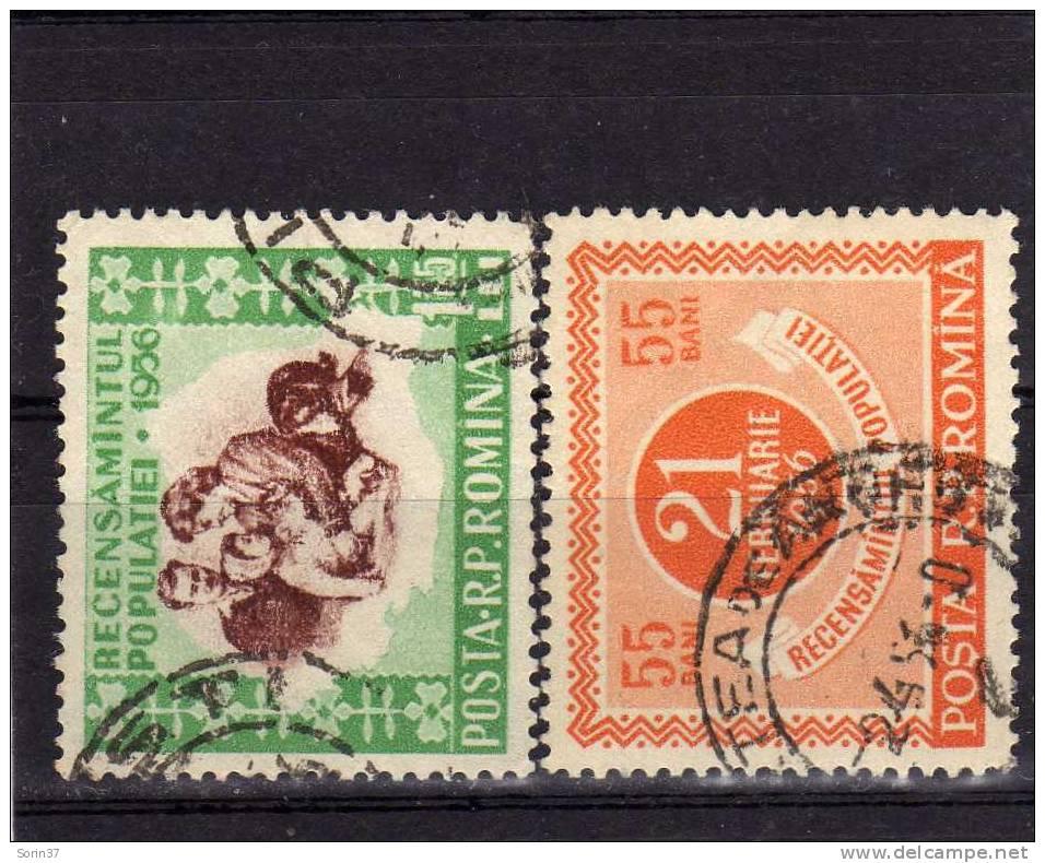 Serie Completa De Romania Año 1956  Yvert Nr. 1436/37  Usada - 1948-.... Repúblicas